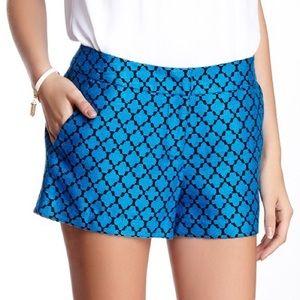 🆕WT Kensie Blue/Black Jacquard Shorts - Size M