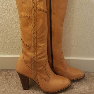Shoes - Vintage soft leather tall boots tooling 7 1/2