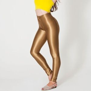ISO American apparel gold disco pants size small