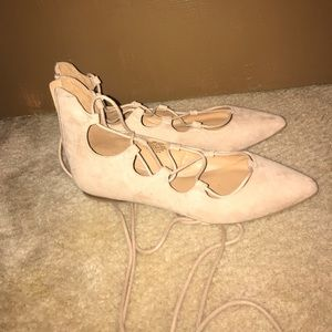 Lace Up ballet flat shoes