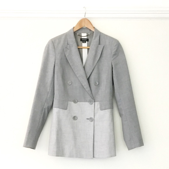reputable site 80879 8aba8 MAX&co Blazer. Grey Scale Color Block. stunning
