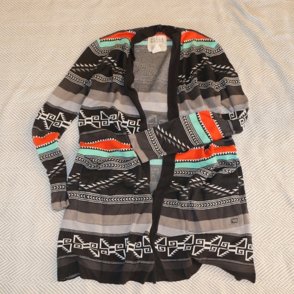 dbb8801b6 Billabong Sweaters - Billabong Long Aztec Cardigan Sweater