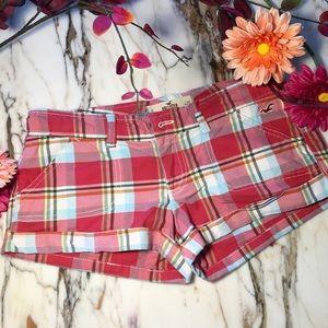 Hollister Shorts - Hollister Plaid SoCal Stretch Shorts