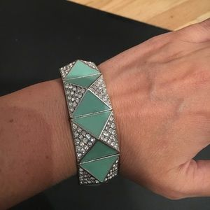Jewelry - Rhinestone and Green Bracelet