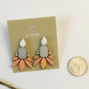 Jcrew nude statement earrings