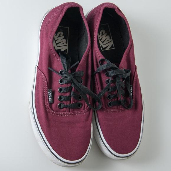 ab5be1a651 Vans Shoes - Vans Tennis Shoes Maroon Mens 7   Womens 8.5