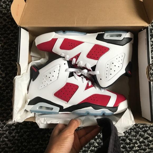 "Jordan Shoes - AIR JORDAN 6 RETRO BG (GS) ""CARMINE"""