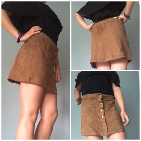 4013f975e0a Suave Suede Skirt. NWT. Altar d State