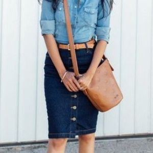 Old Navy Jean Button Down Skirt