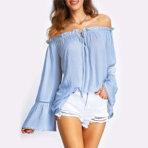 Tops - JUST IN🌷 Ruffle Off the Sloulder Top