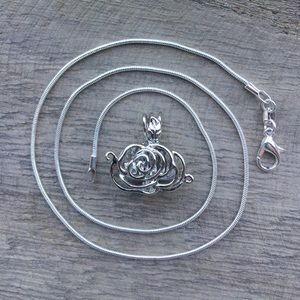Jewelry - Rose Pearl Cage Necklace