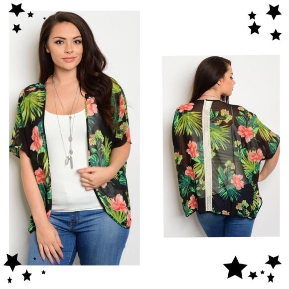 Tops - 🌹Plus Sizes 1X, 2X, 3X Kimono