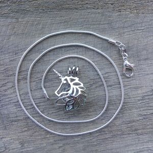 Jewelry - Unicorn Pearl Cage Necklace
