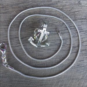 Jewelry - Anchor Pearl Cage Necklace