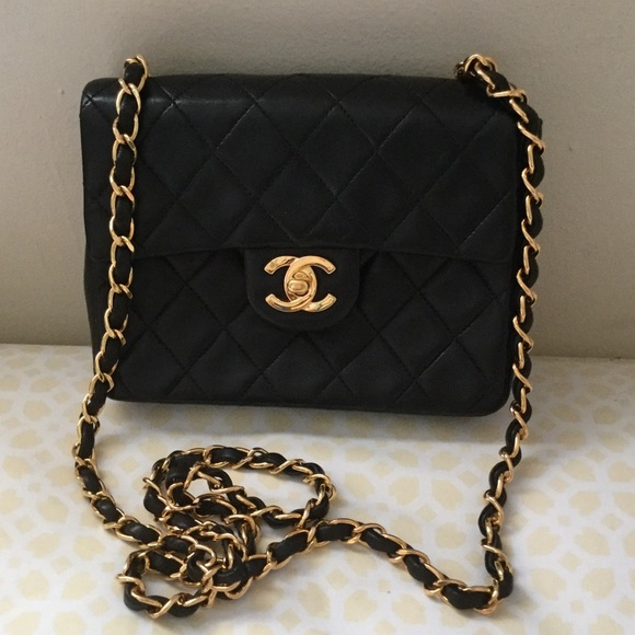 c678518ebff6 CHANEL Handbags - Authentic Chanel Vintage Mini Square Lambskin Flap