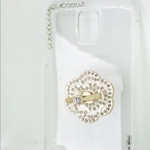 Accessories - Samsung Galaxy S5 Bling Flower Cellphone Case