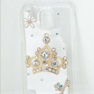 Accessories - Samsung Galaxy S5 Bling Crown Shoe CellPhone Case