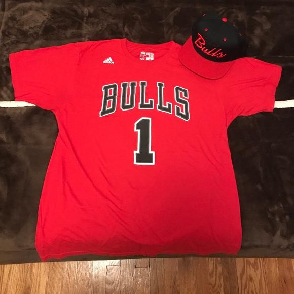premium selection dc5d8 3afb5 Derrick Rose Bulls T Shirt