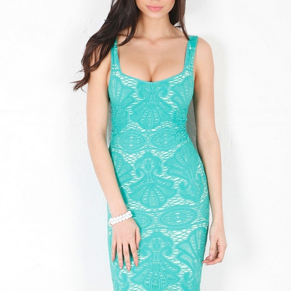 Free People Dresses - #FreePeople Teal + Aqua Bodycon #Mermaid Mini