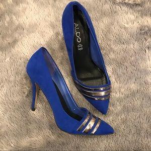 Aldo Cobalt Blue Pumps