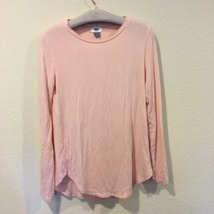 Old Navy super soft! long sleeve light pink tee