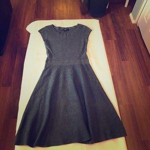 Mossimo Gray Sweater A Line Flare Dress 