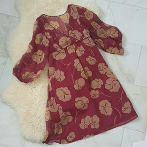 Anthropologie Moulinette Souers Silk 2-Layer Dress