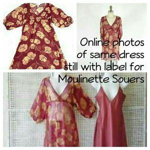 Anthropologie Dresses - Moulinette Souers Sheer Silk 2-Layer Dress