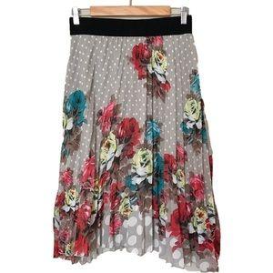 Skirts - Sheer pleated skirt