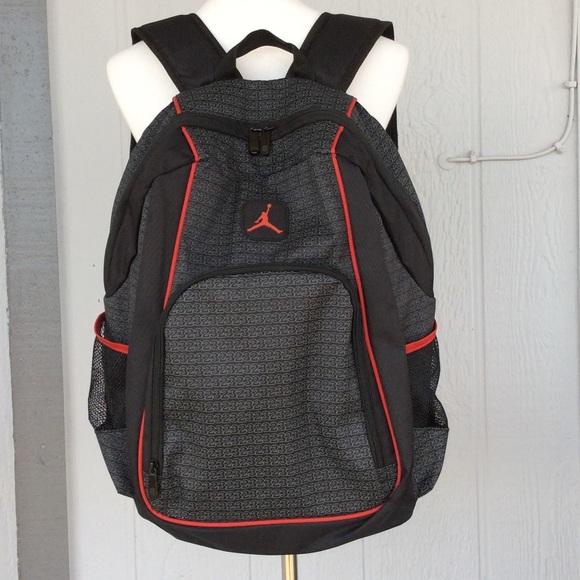 4595c0822e6612 Air Jordan Handbags - JORDAN Air Jumpman Black and Red School Backpack