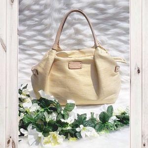 HP KATE SPADE BLUSH BEIGE LARGE CLOTH SHOULDER BAG