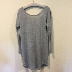 Shein long sleeve gray dress