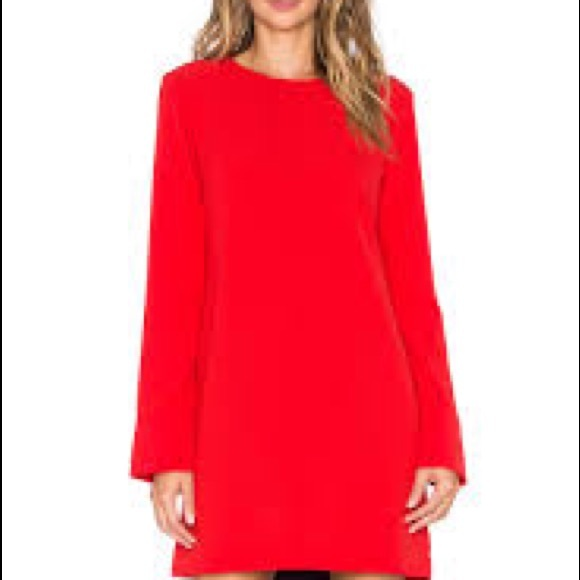 83f3eac027 WAYF cut out back long sleeve red dress S. M_59c7358dea3f365e1300cc86