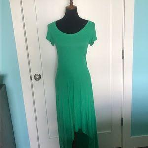 Green causal dress