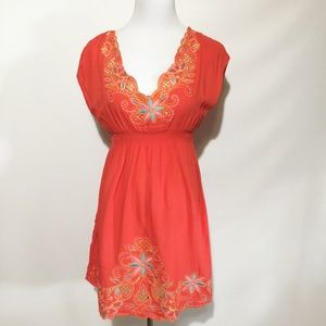 FLYING TOMATO EMBROIDERED DRESS