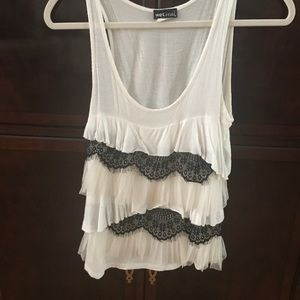 We Seat Lace ruffle tank