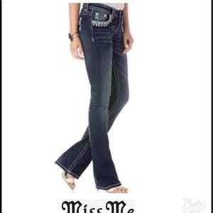 Miss Me Signature boot jeans NWT Sz 27x32