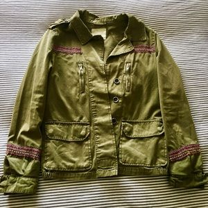 Authentic BERSHKA green jacket; Purchased in Spain