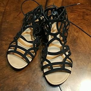 Shoes - Black Ankle Length  Sandals