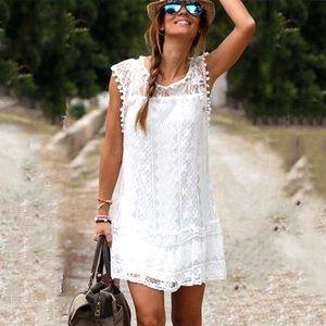 Dresses & Skirts - Pre Loved White Summer Dress