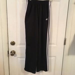 Adidas black track pants.  XL
