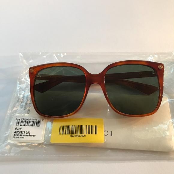 7a6b7e4289 Gucci Sunglasses GG0022S 002 Womens Sunglasses