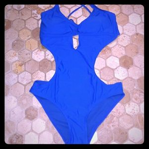Other - Royal blue strappy cutout monokini bathing suit