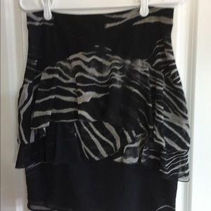 Zara basic zebra print skirt