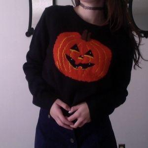 Sweaters - Halloween LIGHT UP LED!! Pumpkin Vintage Sweater