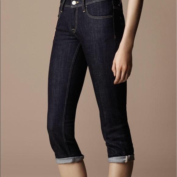 e48938dc74b1d Burberry Denim - Burberry Brit Buckingham Skinny Leg Cropped Jeans