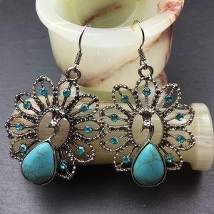 Jewelry - Peacock Fish Hook Earrings