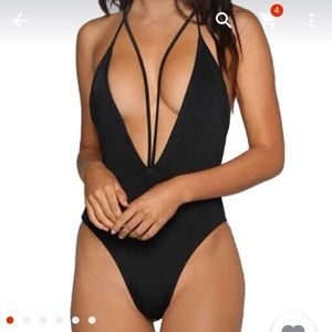 Other - Brand new black strappy one piece swimsuit