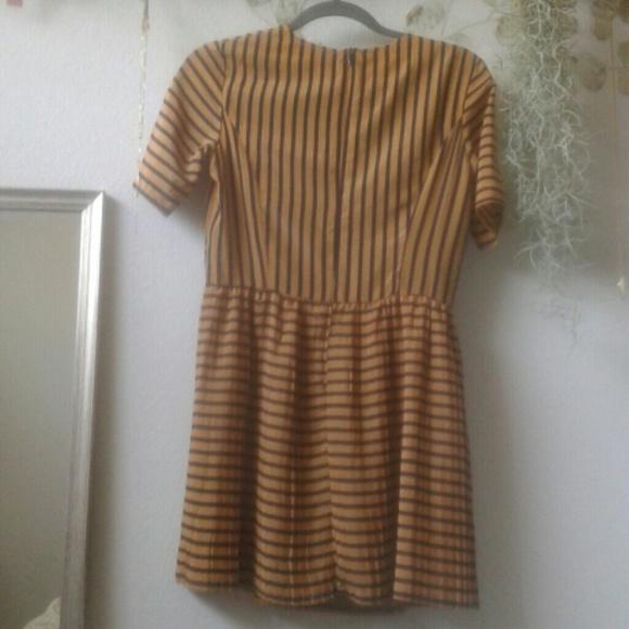 MINKPINK Dresses - Striped pleated dress
