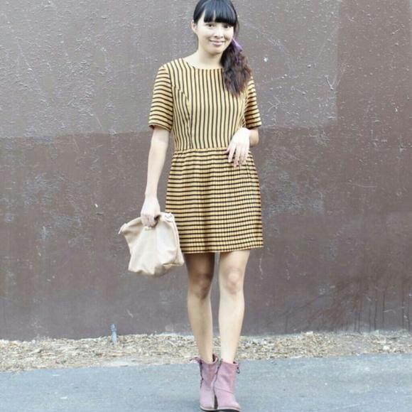 MINKPINK Dresses & Skirts - Striped pleated dress